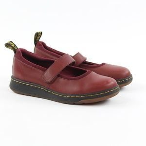 Dr. Martens Askins SoftWair Burgundy Mary Jane 7